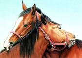 Mares and Foals, Equine Art - A Little to the Left
