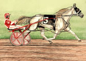 Standardbred, Equine Art - Admirals Express