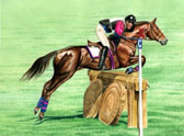 Eventing, Equine Art - April in Kentucky