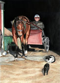 Standardbred, Equine Art - Barn Cats