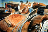 Western, Equine Art - Best Seats in the Rodeo