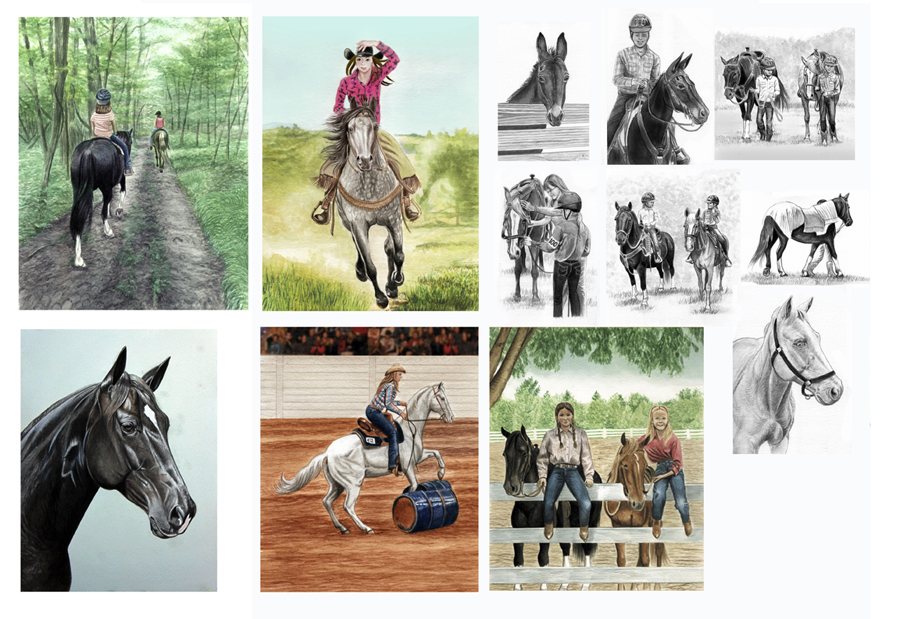 Book Illustrations Sonrise Stables