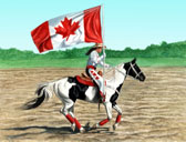Western, Equine Art - Canada Day