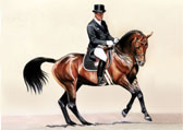 Dressage, Equine Art - Canter Pirouette