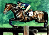 Eventing, Equine Art - Courageous