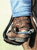 Western, Equine Art - Cowboy Boot