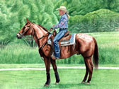 Western, Equine Art - Cowgirl