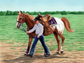 Western, Equine Art - Done Up in Purple
