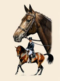 Dressage, Equine Art - Dressage Elegance