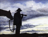 Western, Equine Art - End of the Day