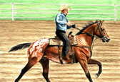 Western, Equine Art - Fast Appy