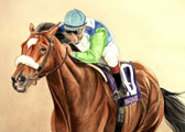 Thoroughbred, Equine Art - Five For Five (Barbaro)