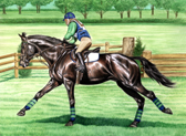 Eventing, Equine Art - Flat Out
