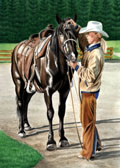 Western, Equine Art - Getting Ready