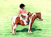 Western, Equine Art - Little Cowgirl
