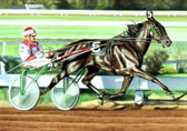 Standardbred, Equine Art - Mack and John