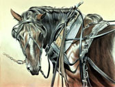 Carriage Driving, Equine Art - Quittin Time