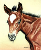 Mares and Foals, Equine Art - Those Ears