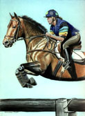 Eventing, Equine Art - Very Very Brave